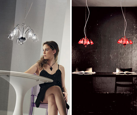 romantic glass suspension lighting demajo bea Romantic Glass Suspension Lighting by deMajo