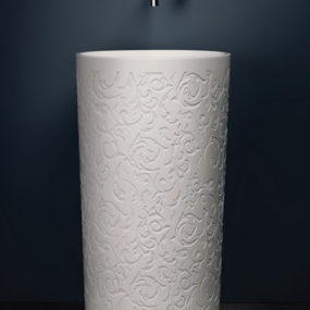 Round Decorative Pedestal Sink – Blu Stone by Blubathworks