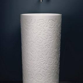 RoundDecorative Pedestal Sink – Blu Stone by Blubathworks