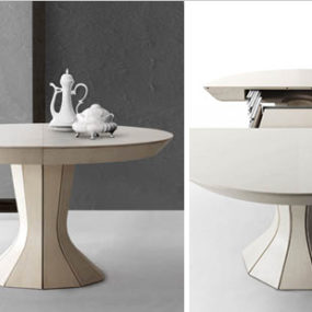 Round Expandable Dining Table – modern Opera by Bauline