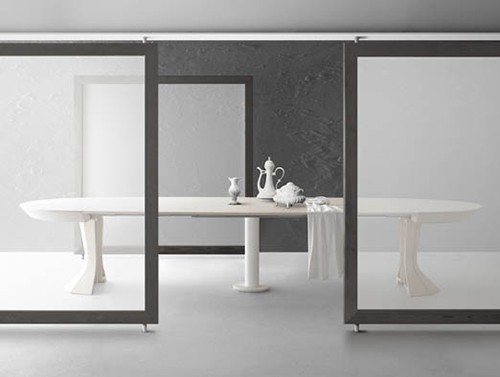 Round Expandable Dining Table Opera By Bauline Designer Homes