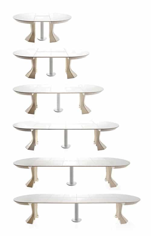 round expandable dining table modern opera bauline 3