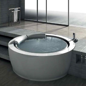 Round Whirlpool Bathtub by Hafro – new Bolla Sfioro