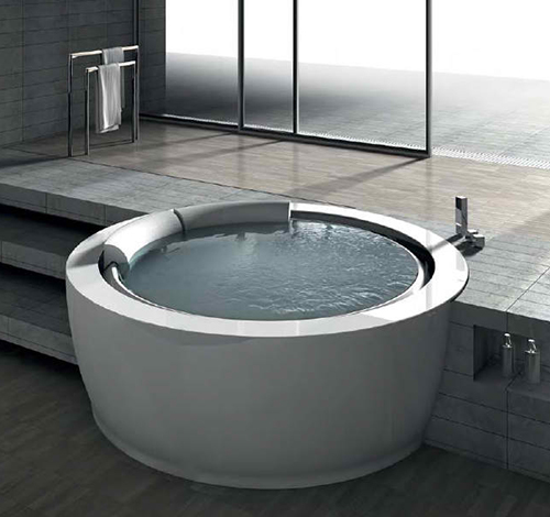 Round Whirlpool Bathtub by Hafro – new Bolla Sfioro