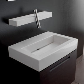 Bathroom Faucets from Treemme – the new Blok bathroom faucet and shelf combo
