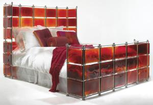 ruby bed Stained Glass Ruby Bed from Xander Blue
