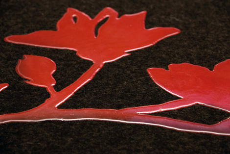ruckstuhl rug red flower 2