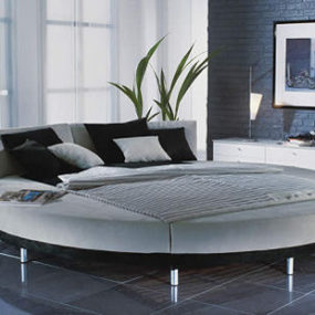 Modern round bed from RUF-Bett – the Circolo bed