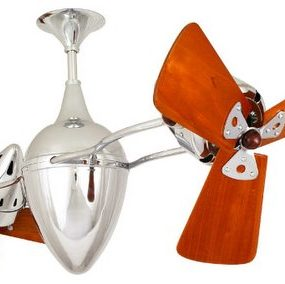 Ar Ruthiane – Polished Chrome Ceiling Fan by Matthews Fan Company