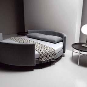 Contemporary Bed from Saba Italia – the Scoop round bed