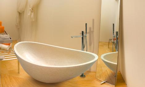 salvinistile bathtub oyster 1 Elegant Bathroom Design   Oyster tub by Salvinistile
