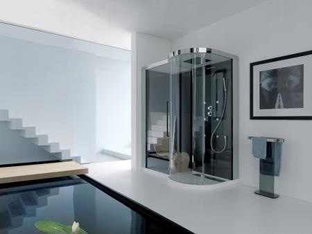 samo shower cabin kuma Clear Contemporary Shower Cabins from Samo   Kuma and Suen focus on total wellbeing