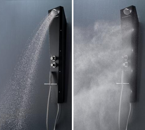 Nice Shower Panel System By Samo Comes With Waterfall And Drop Spraying Jets