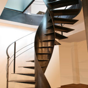 Metal Spiral Staircase – Etika architectural staircase design by Sandrini Scale