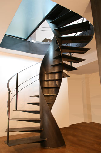 sandrini scale metal spiral staircase design 1 Metal Spiral Staircase   Etika architectural staircase design by Sandrini Scale