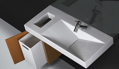 sanindusa flux wall hung vanity Wall Hung Washbasin Flux from Sanindusa   an uncomplicated statement of your style