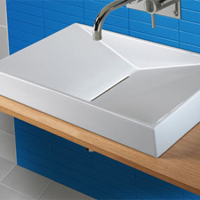 Wall Hung Washbasin Flux from Sanindusa – an uncomplicated statement of your style
