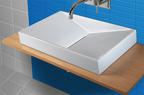 sanindusa flux wall hung washbasin Wall Hung Washbasin Flux from Sanindusa   an uncomplicated statement of your style