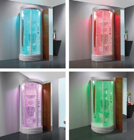 sanindusa sansis shower chromatherapy colors Spa Shower from Sanindusa   travel to new realms of relaxation with Sansis spa