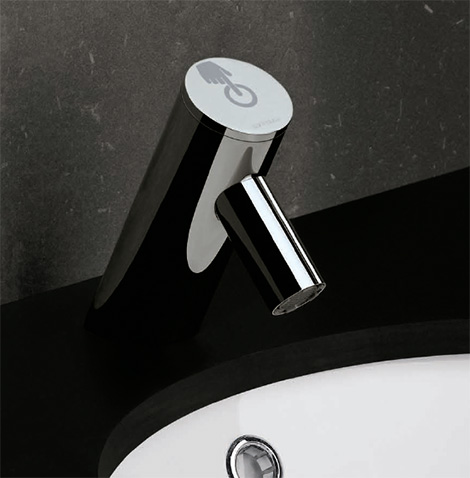 sanindusa spot electronic bathroom faucet New Electronic Bathroom Faucet from Sanindusa   the Spot touch faucet