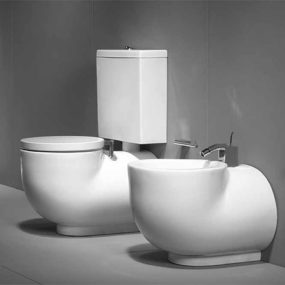 Bidet and Toilet from Sanindusa – Solid Style
