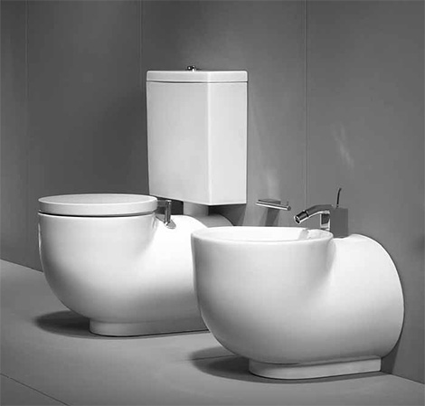 Bidet And Toilet From Sanindusa Solid Style