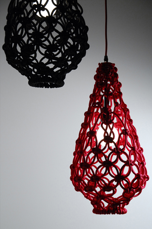 satelight pendant light weaver 2 Macrame Light Shade by Satelight
