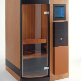 Saunas from Sauna Italia – the Elle chrome-therapy sauna