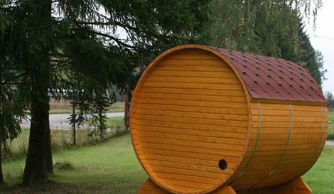 sauna unit badebotti Wood Burning Saunas   barrel sauna by Badebotti