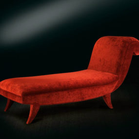 Scarlet Red Delightful Day Bed by Casali