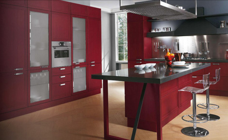 Scavolini kitchen Focus - storage and island closeup