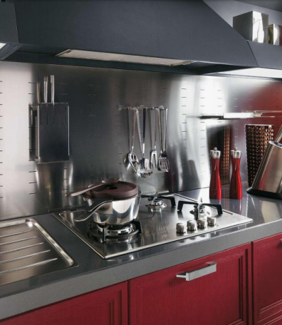 Scavolini kitchen Focus - cooktop closeup
