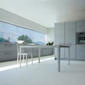 Modern Kitchen by Schiffini – Cinqueterre anodized aluminium kitchen