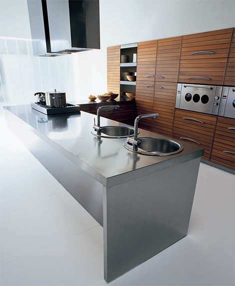 schiffini solaro kitchen walnut Walnut Kitchen by Schiffini   Solaro modern kitchen