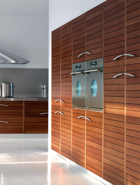 schiffini solaro modern kitchen Walnut Kitchen by Schiffini   Solaro modern kitchen