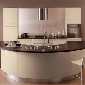 Round Kitchen from Schmidt – the Lotus & Giro 'cockpit-kitchen'