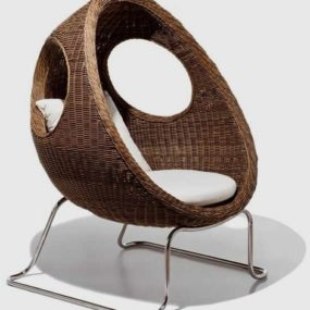 Woven Patio Furniture – Ladybug Sofa and Chair by Schoenhuber Franchi