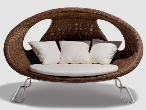 Schoenhuber Franchi Woven Patio Furniture Ladybug Sofa Woven Patio Furniture  Ladybug Sofa And Chair By Schoenhuber