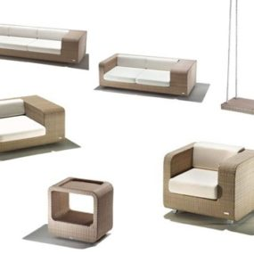 Modern Patio Furniture Set – new Hug patio set by Schoenhuber Franchi