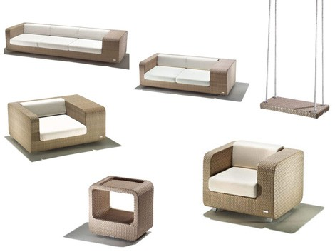 Modern Patio Furniture Set - new Hug patio set by Schoenhuber Franchi