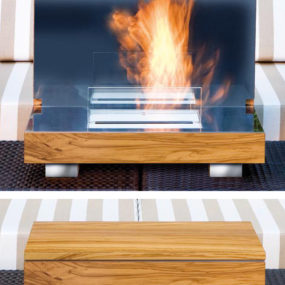 Portable Fireplace in a Box – Firebo-x and Fireboard from Schulte
