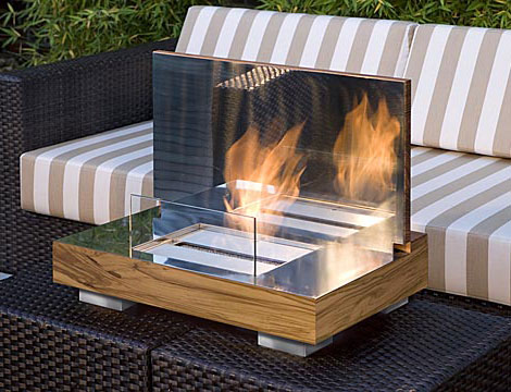 Portable Fireplace In A Box Firebo X And Fireboard From Schulte