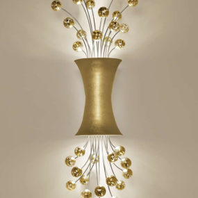Sconce Lighting in 24ct yellow gold leaf finish by Boyd Lighting