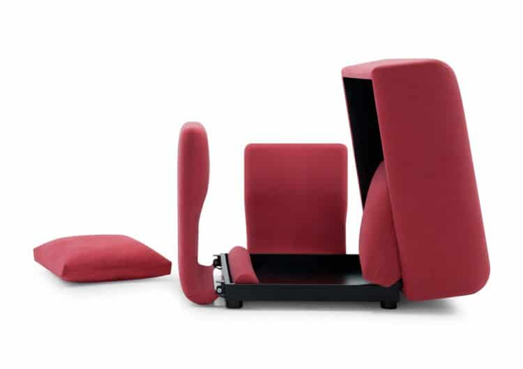 Sectional Convertible Sofa with Storage Box by Futura