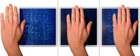 sensitile scintilla tiles blue wall SensiTile fiber optic tiles   where the light moves!