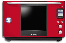 sharp superheated%20steam%20oven red Sharp Superheated Steam Oven AX700 S
