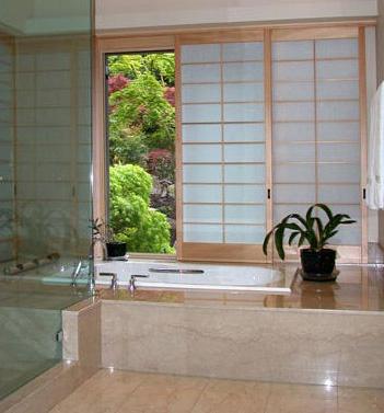 shoji sliding screen bathroom
