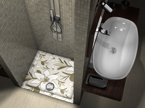 showart shower tray linea texture 2 Show off with Showart   Linea Texture shower base collection