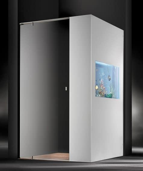 shower with aquarium cesana plano acquario 1 Shower with Aquarium by Cesana   Plano Acquario