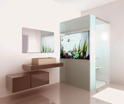 shower with aquarium cesana plano acquario 2 Shower with Aquarium by Cesana   Plano Acquario
